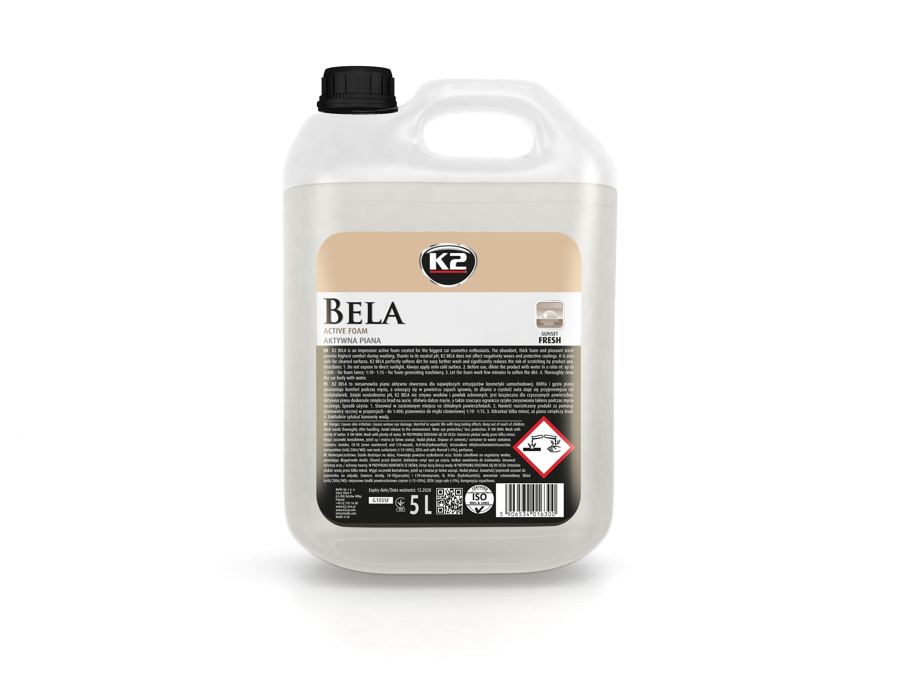 K2 BELA 5L SUNSET FRESH