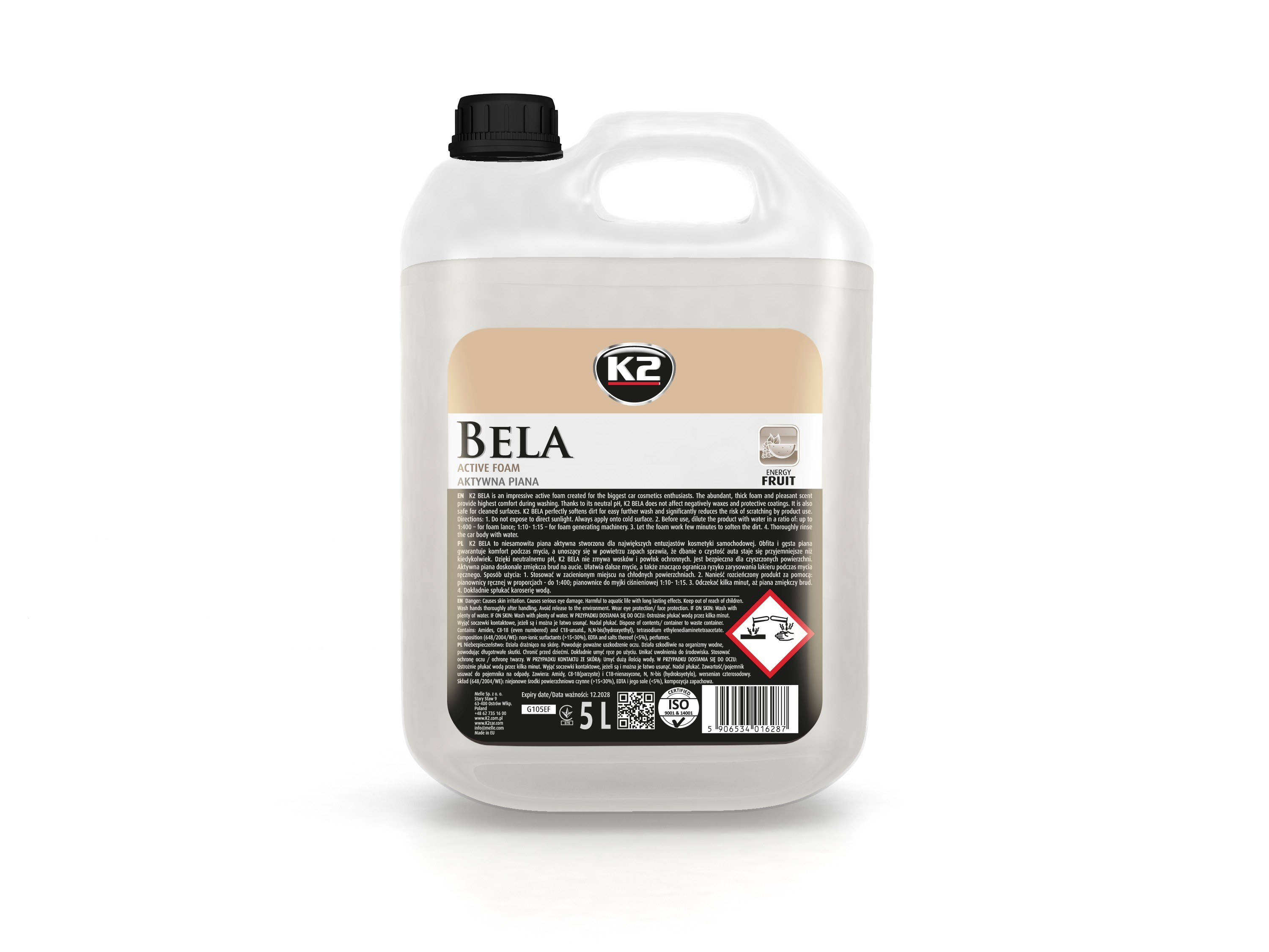 K2 BELA 5L ENERGY FRUIT